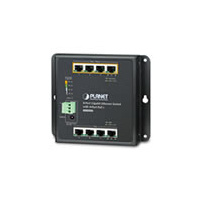 IP30 8-Port Gigabit Wall-mount Switch with 4-Port 30W PoE  (-10 to 60 C), dual redundant power input on 48-56V DC terminal block and power jack