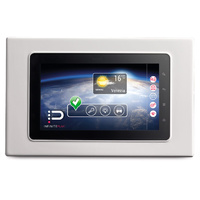 "Next flush mount IP hands-free, two channel monitor with 7"", WVGA resolution, TFT LCD, capacitive touch screen, in white finish. Dimensions 245 X 155m"