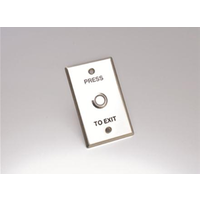 Guardall Push Button Green LED with Press To Exit Plate Large