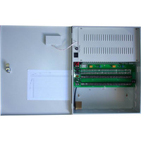 13.5V 24A 435x120x345 Wall mount 13.5V DC  power supply (12V-7AH battery installed) with mains fail contact 32 x 1A Outputs